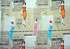 RETRO DRESSMAKER PANEL - 60cm x 112cm - Michael Miller Fabrics