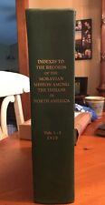 Index Moravian Mission~North American Indians~Fliegel~1970
