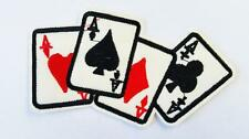 AAAA 4 ACES PATCH IRON/SEW ON EMBROIDERED PATCHES POKER CARDS BIKE VEST