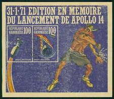GABUN BLOCK 19 WELTRAUM 1971 APOLLO SPACE sauber gest. z2598
