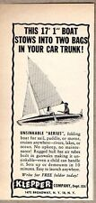 1952 Print Ad Klepper Aerius Folding Boat for Sail,Motor New York,NY