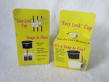 Bird Parrot Cup Feeder & Water Bowl For Small Pets~Locks In Place 2-10 oz Cups
