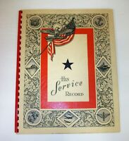 Vintage 1942 Military His Service Book in Excellent Unused Condition