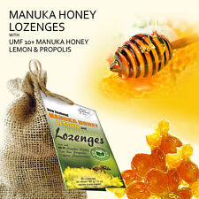 UMF 10+ Manuka Honey Lemon and Raw Propolis Drops to Soothe Sore Throat 20 drops