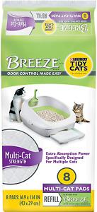 Purina Tidy Cats Breeze Litter System Cat Pad Refill, Multi Cat Strength, 8 Ct