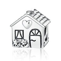 Love Heart House Charm 100% 925 Sterling Silver Pandora