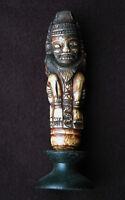 Kris-Griff Indonesien 19. Jahrhundert Dämon Erotik, 11,5 cm H, Horn sammelwürdig