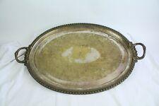 Vtg Large Big Silver Plated Oval Meat Turkey Ham Thanksgiving Serving Platter