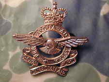 Old Canadian Royal Air Force Cap Badge with Queen's Crown Post WW II