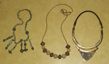 RETRO LATE CENTURY MODERN FASHION JEWELRY LIMITED TURQUOISE TRIBAL NECKLACES VTG