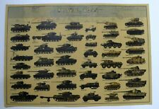 June 6 1944 D Day and the Normandy Campaign Poster Print War Tanks & Vehicles