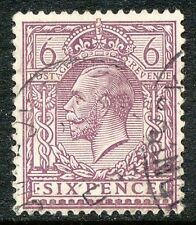 GB 1913 King George V 6D chalky paper dull purple, superb used, ERROR/VARIETY