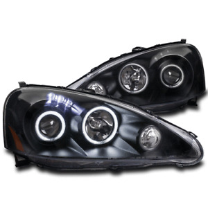 FOR 05-06 ACURA RSX BASE TYPE-S CCFL HALO LED BLACK PROJECTOR HEADLIGHT HEADLAMP