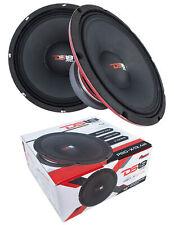 """2x DS18 12"""" Pro Audio Mid Range Loud Speaker Red 1800 Watt 4 Ohm PRO-X12.4M"""