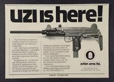 1980 Action Arms UZI vintage print Ad