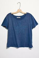 Free People Rodeo T Shirt blue cotton 8/10 bnwt