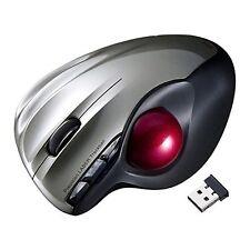 Sanwa Wireless Trackball mouse Laser Silver MA-WTB43S