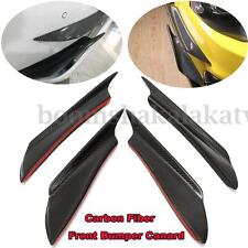 4X Real Carbon Fiber Front Bumper Splitter Fins Canards Splitters For Mitsubish