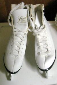 Lange Aries Figure Skates Women's 7 White - GREAT CONDITION