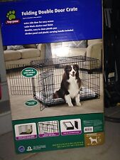 TOP PAW FOLDING DOUBLE DOOR CRATE 36.5 L X 22.75 W X 24.74in H  Local Pick Up