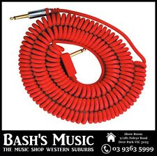 VOX VCC090 Red Coiled Guitar Cable 9 Metres with Bag
