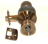 Schlage Keyed Door Knob Set with Mortise and Key Oiled Bronze Finish
