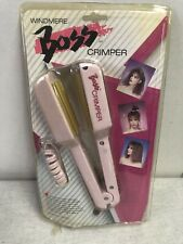 NOS IN PACK Windmere Boss Crimper Hair Crimping Iron Waver PINK  VTG CMC-IR/332