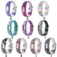 Silicone Fashion Pattern Replacement Wrist Band Strap Bands For Garmin vivofit 4