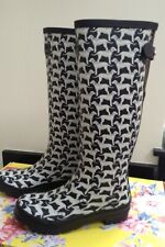 JOULES BLACK AND WHITE DALMATIANS DOGS WELLIES. SIZE 4. BRAND NEW WITH BOX