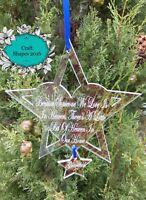 Personalised Memorial Christmas Bauble, Memorial Ornament, Christmas, Memorial