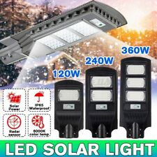 120W 60 LED Commercial Solar Street Light Dusk To Dawns IP67 Outdoor+ Remote US