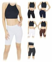 Womens Cotton Cycling Summer Stretch Above Knee Length Active Dance Yoga Shorts