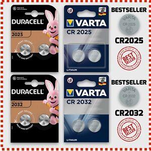 Duracell Varta CR2025 CR2032 LR54 Batterien 3V Volt Bulk oder Blister