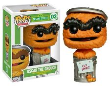"EXCLUSIVE SESAME STREET ORANGE OSCAR THE GROUCH 3.75"" VINYL FIGURE POP NEW FUNKO"