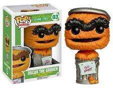 """Esclusivo Sesame Street Arancione Oscar il Grouch 3,75 """"PERSONAGGIO IN VINILE POP NUOVA FUNKO"""