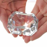 Crystal Rectangle Diamond Cut Glass Jewelry Decoration Paperweight Collection