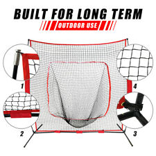 7'×7' Baseball Softball Practice Hitting Batting Bow Frame Training Net W/ Bag
