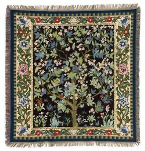 WILLIAM MORRIS TREE OF LIFE TAPESTRY BED SOFA COUCH SETTEE THROW BLANKET DECOR