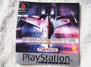 74370 Instruction Booklet - Ace Combat 3 Electrosphere - Sony PS1 Playstation 1