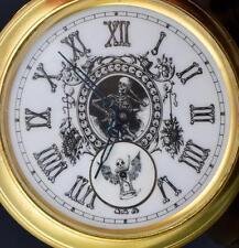 MUSEUM Victorian Automaton Doctor's Memento Mori SKULL pocket watch.Giant 80mm!