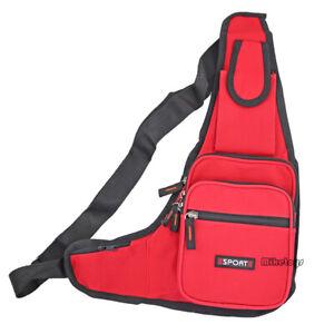 Mens Womens Sling Bag Chest Shoulder Backpack Fanny Pack Crossbody Travel (3306)
