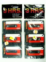 NEW 1985 Lot Of 2 Laser 3 Pk 60 Minute Low Noise Cassette Tapes Factory Sealed