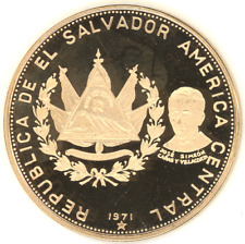 El Salvador 100 Colones 1971 ANNIVERSARY INDEPENDENCE Choice Proof gold coin