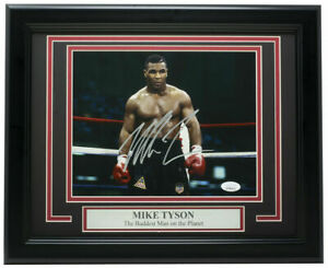 Mike Tyson Baddest Man Signed Framed 8x10 Stare Photo JSA ITP