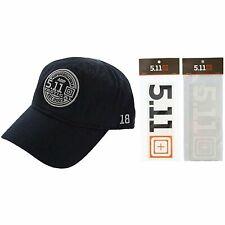 5.11 Cap + Decal Sticker Bundle - 511 Tactical Authentic Navy Blue