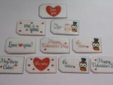20 PRECUT edible wafer/rice paper Valentine tags cake/cupcake toppers