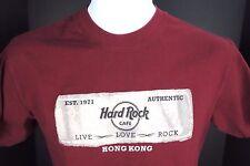 Medium Hard Rock Hong Kong Maroon T Shirt Unisex M