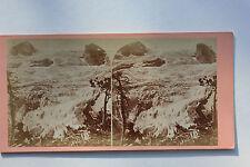 Suisse Swiss Switzerland Schweiz Svizzera Photo stéréo Papier Vintage vers 1870