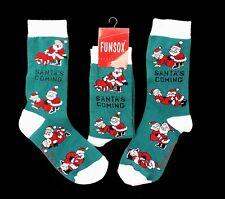 Unique Adult Christmas Socks Santa Coming Mrs. Claus in Positions Gag Gift