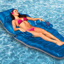 Luxury Pool Lounger Adjustable Recliner Chaise Inflatable chair Pool Float